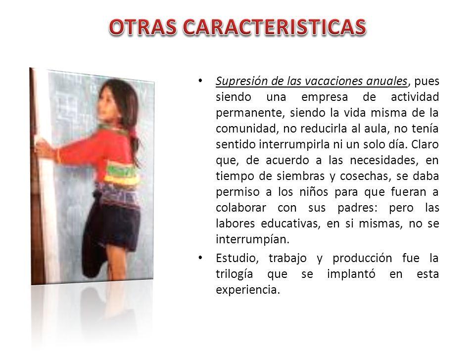 OTRAS CARACTERISTICAS