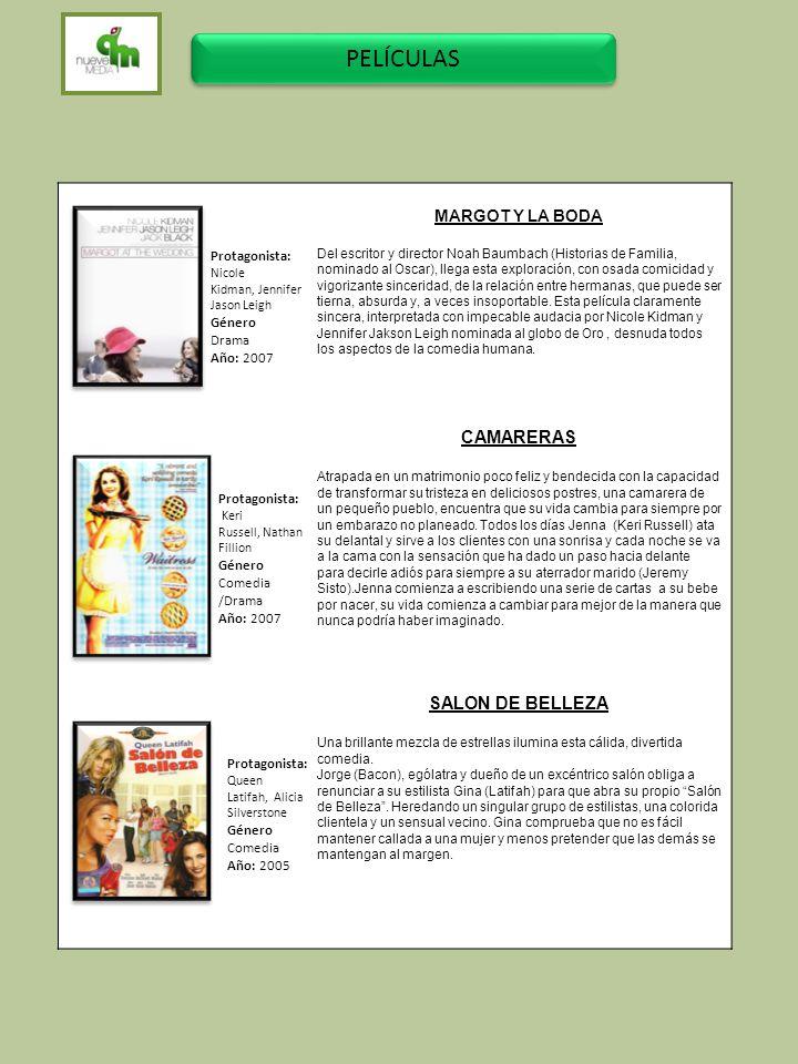PELÍCULAS CAMARERAS SALON DE BELLEZA B MARGOT Y LA BODA Protagonista: