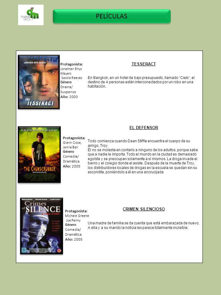 PELÍCULAS TESSERACT Protagonista: EL DEFENSOR Drama/ Suspenso