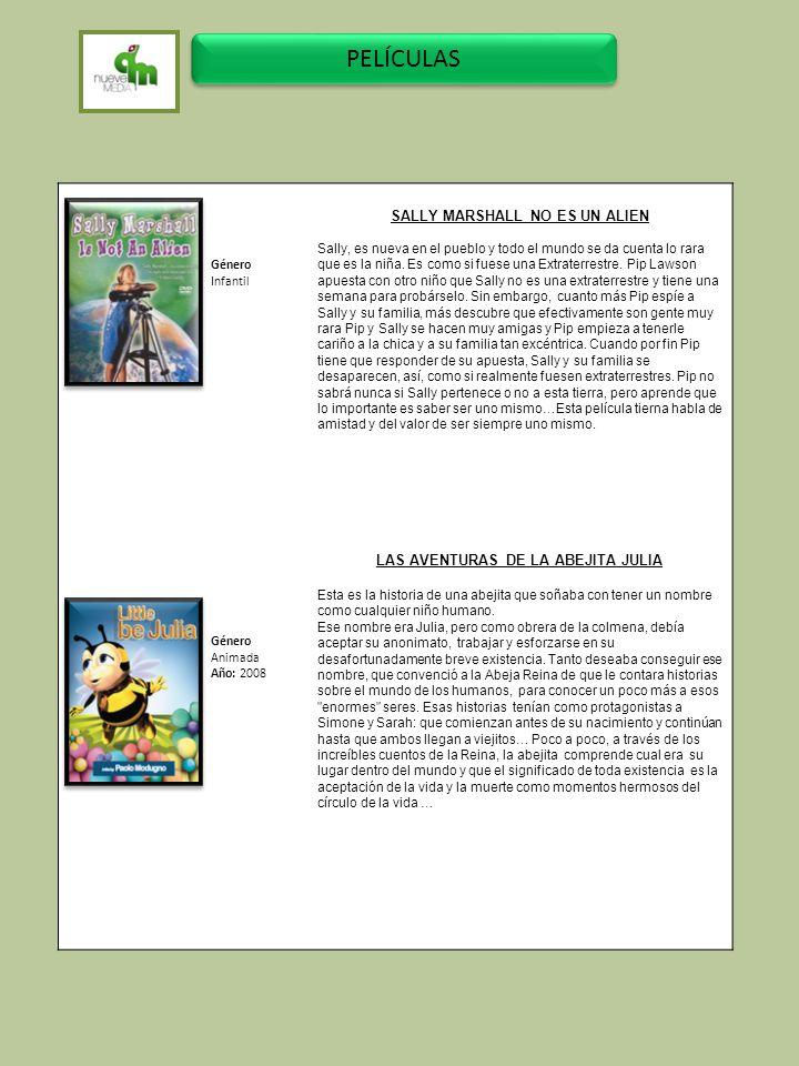 SALLY MARSHALL NO ES UN ALIEN LAS AVENTURAS DE LA ABEJITA JULIA
