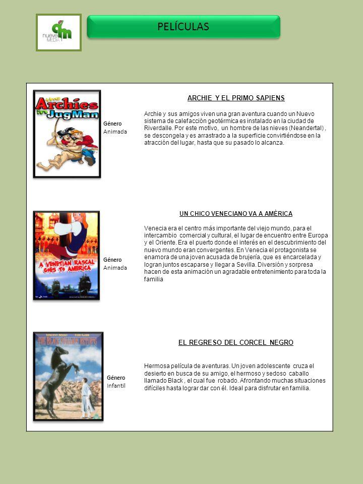 PELÍCULAS ARCHIE Y EL PRIMO SAPIENS Animada