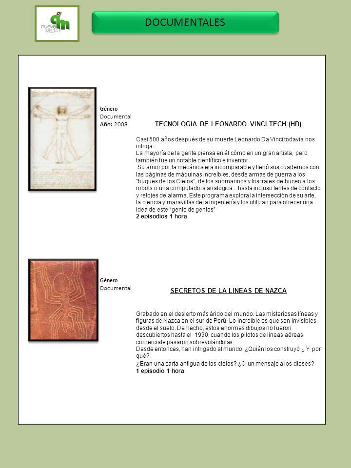 TECNOLOGIA DE LEONARDO VINCI TECH (HD) SECRETOS DE LA LINEAS DE NAZCA