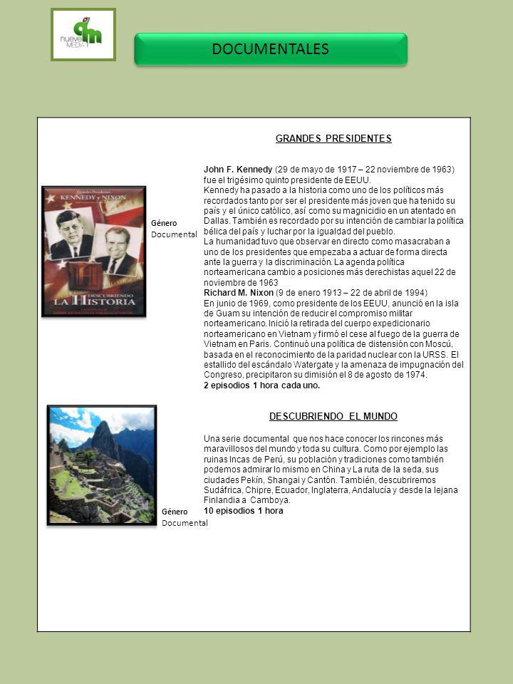 DOCUMENTALES GRANDES PRESIDENTES DESCUBRIENDO EL MUNDO Documental
