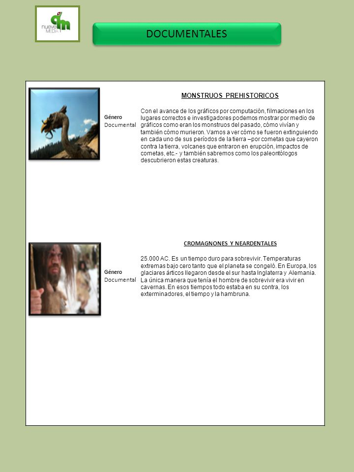 MONSTRUOS PREHISTORICOS