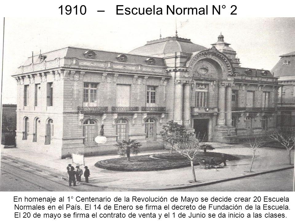 1910 – Escuela Normal N° 2