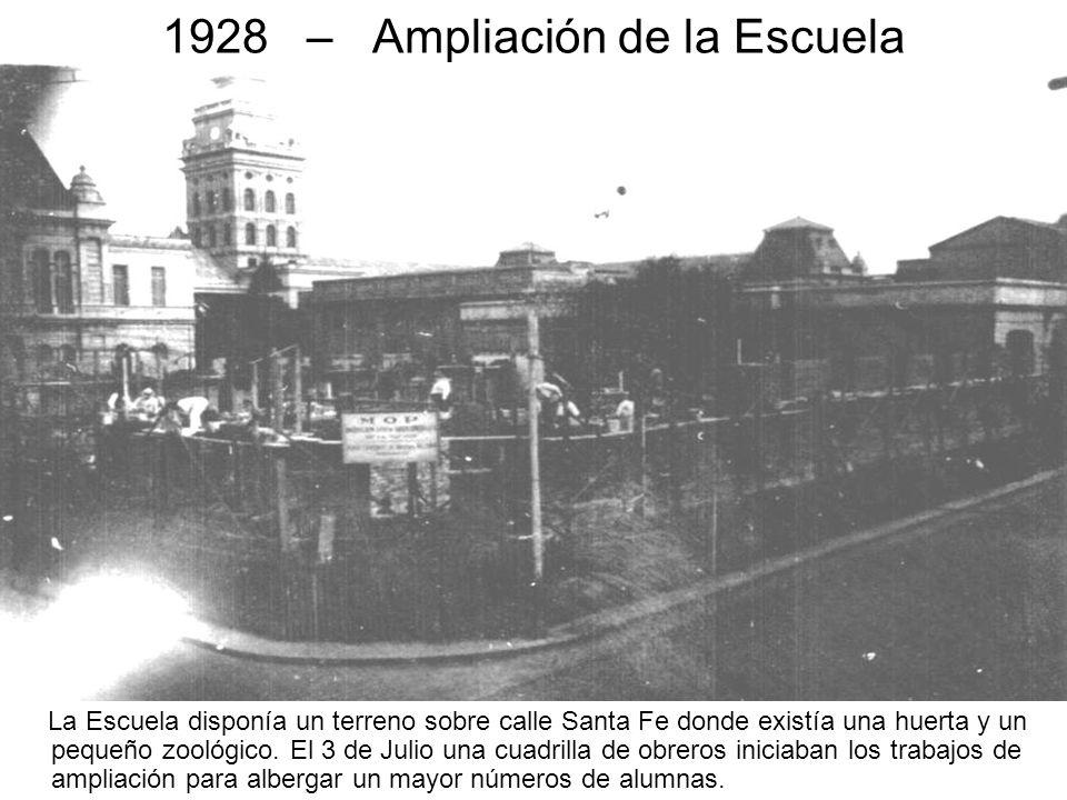 1928 – Ampliación de la Escuela