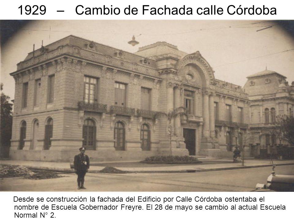 1929 – Cambio de Fachada calle Córdoba