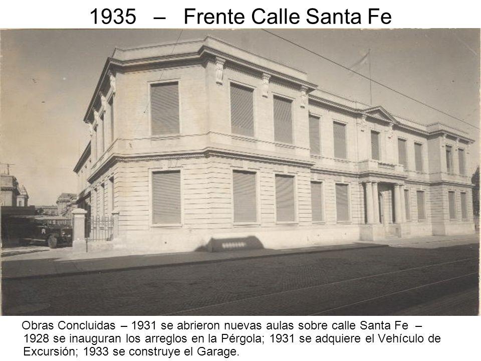1935 – Frente Calle Santa Fe