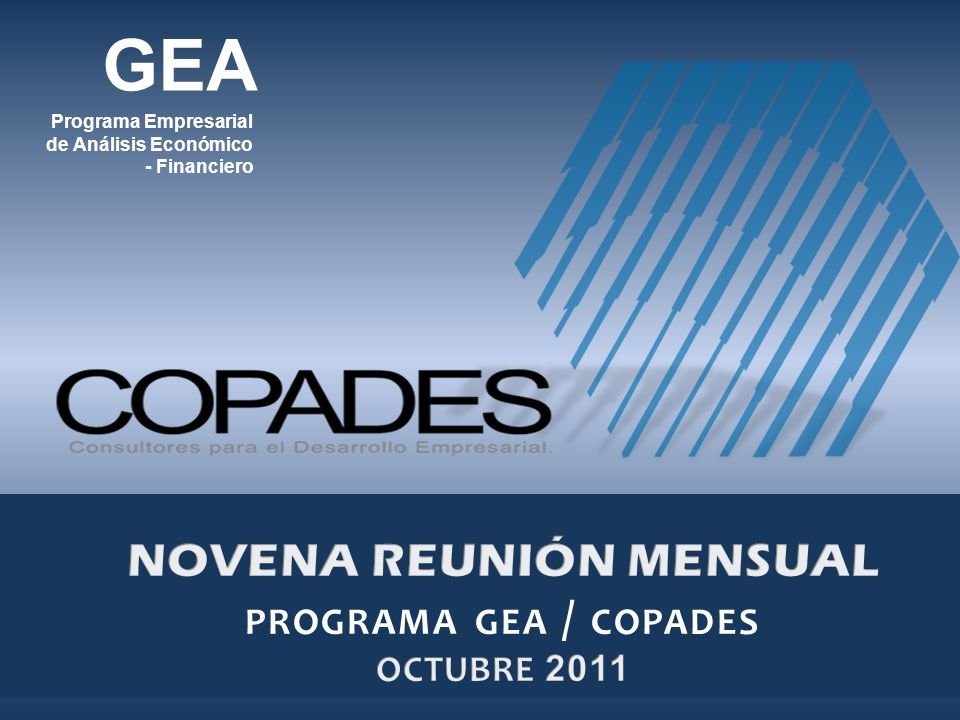NOVENA REUNIÓN MENSUAL programa gea / copades OCTUBRE 2011