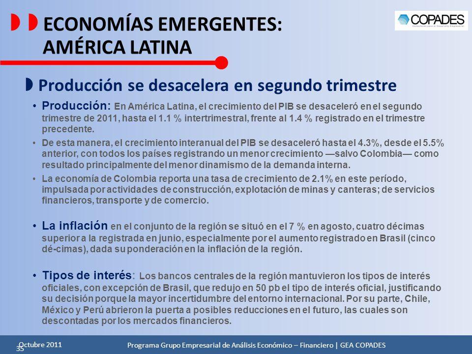   ECONOMÍAS EMERGENTES: