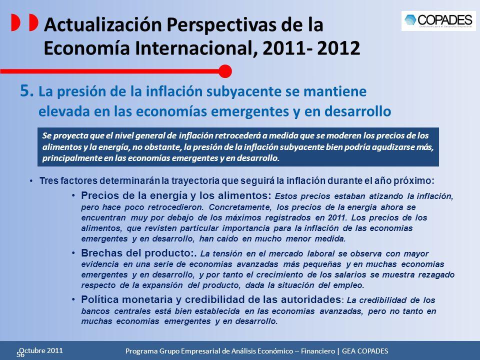   Actualización Perspectivas de la Economía Internacional, 2011- 2012