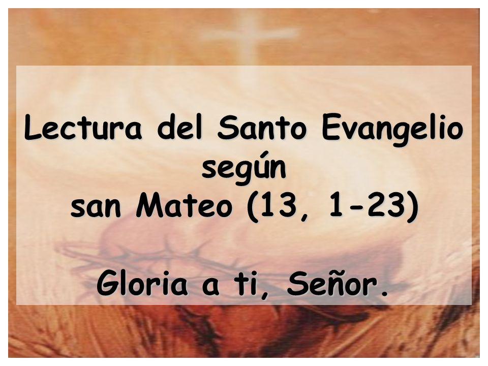 Lectura del Santo Evangelio según