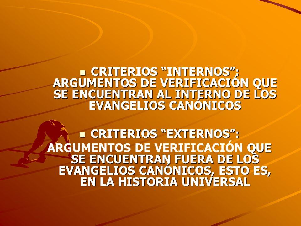 CRITERIOS EXTERNOS :