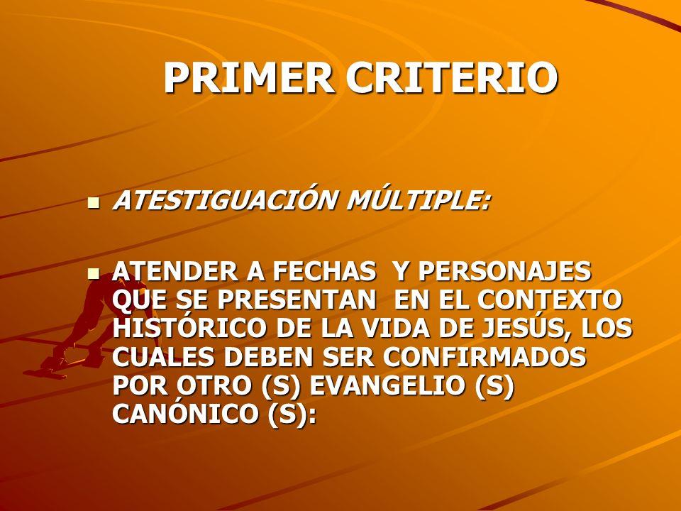 PRIMER CRITERIO ATESTIGUACIÓN MÚLTIPLE: