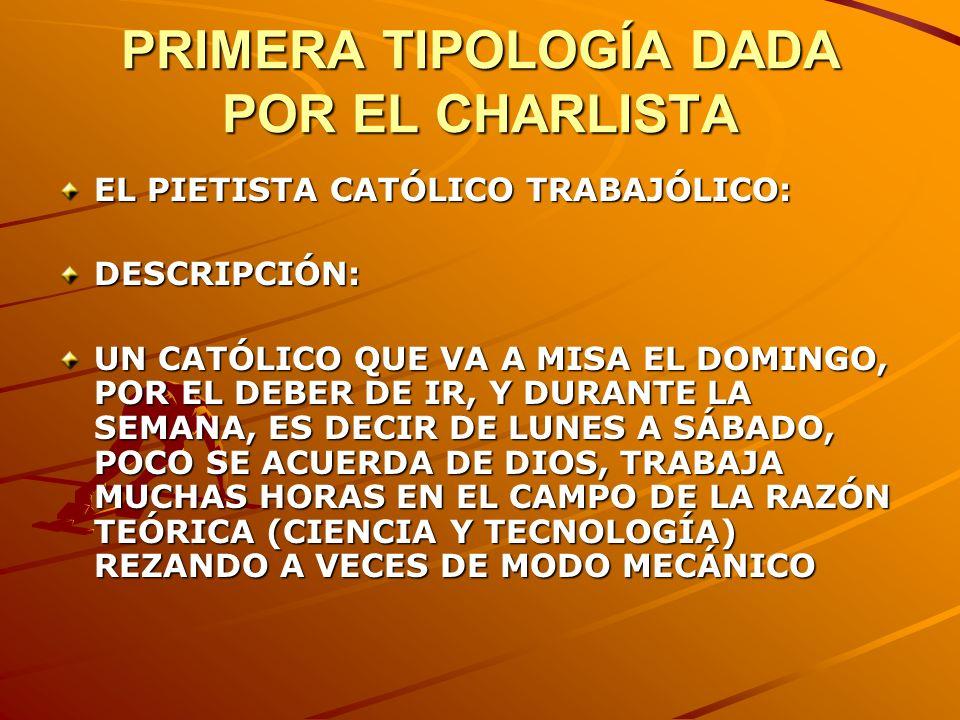 PRIMERA TIPOLOGÍA DADA POR EL CHARLISTA