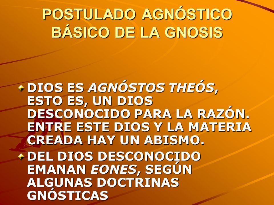 POSTULADO AGNÓSTICO BÁSICO DE LA GNOSIS
