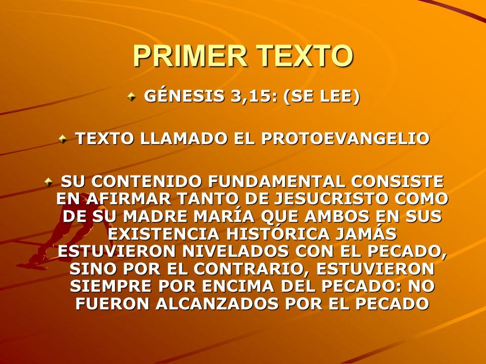 TEXTO LLAMADO EL PROTOEVANGELIO