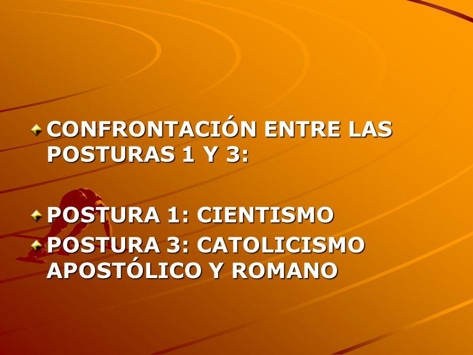 CONFRONTACIÓN ENTRE LAS POSTURAS 1 Y 3:
