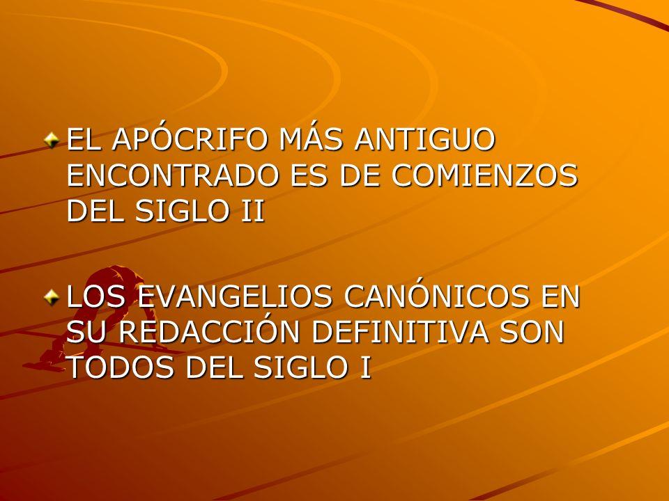 EL APÓCRIFO MÁS ANTIGUO ENCONTRADO ES DE COMIENZOS DEL SIGLO II