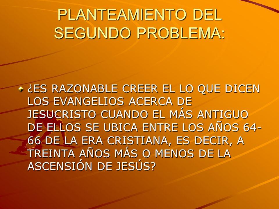 PLANTEAMIENTO DEL SEGUNDO PROBLEMA: