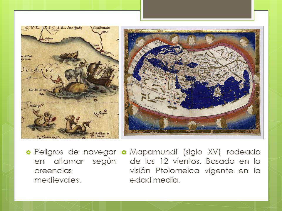Peligros de navegar en altamar según creencias medievales.