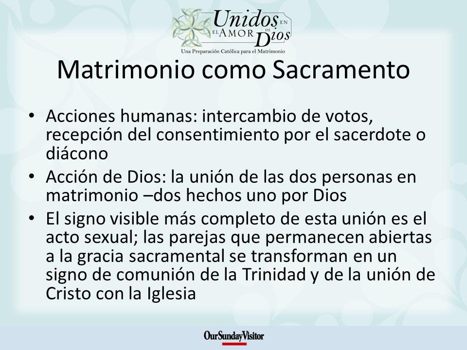 Matrimonio como Sacramento