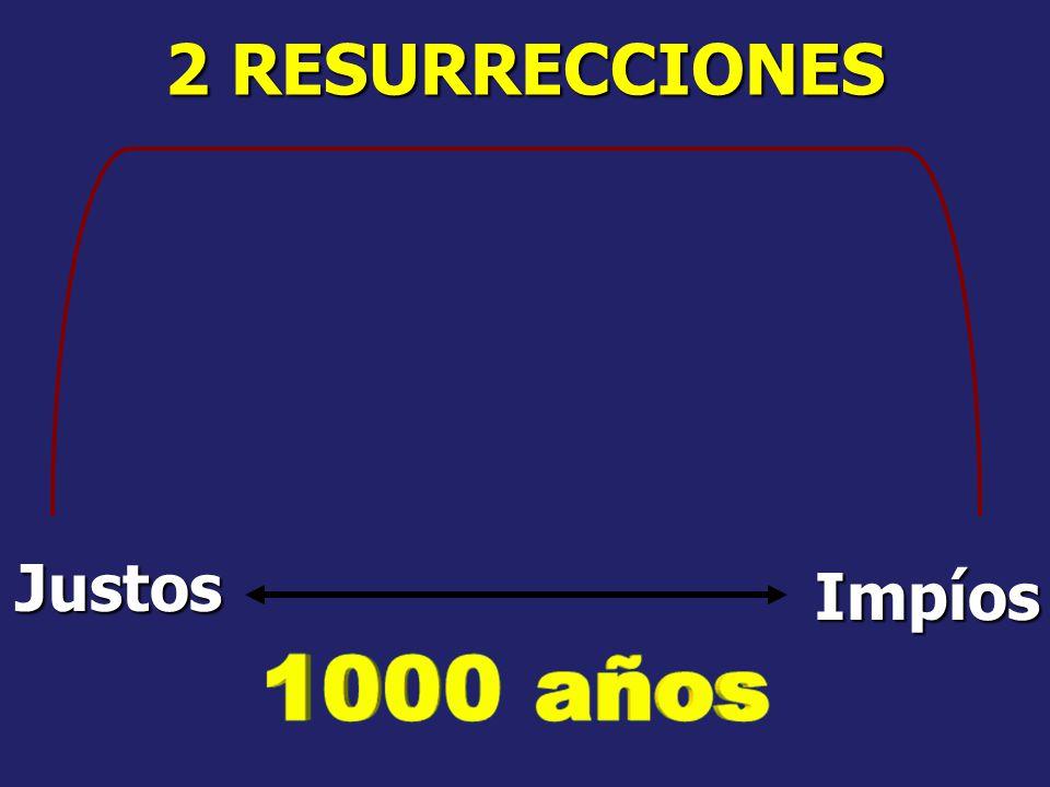 2 RESURRECCIONES Justos Impíos