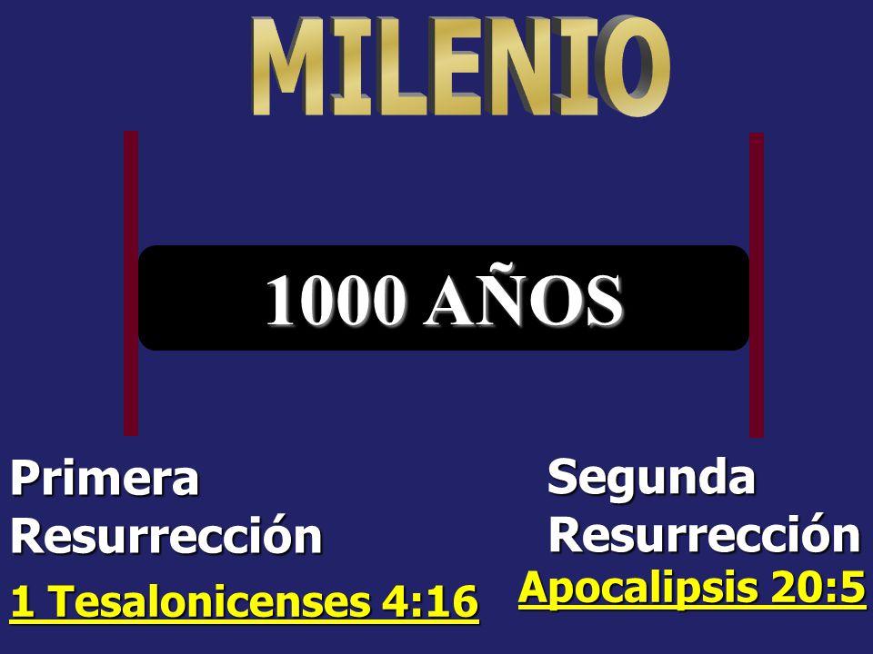MILENIO 1000 AÑOS Primera Resurrección Segunda Resurrección