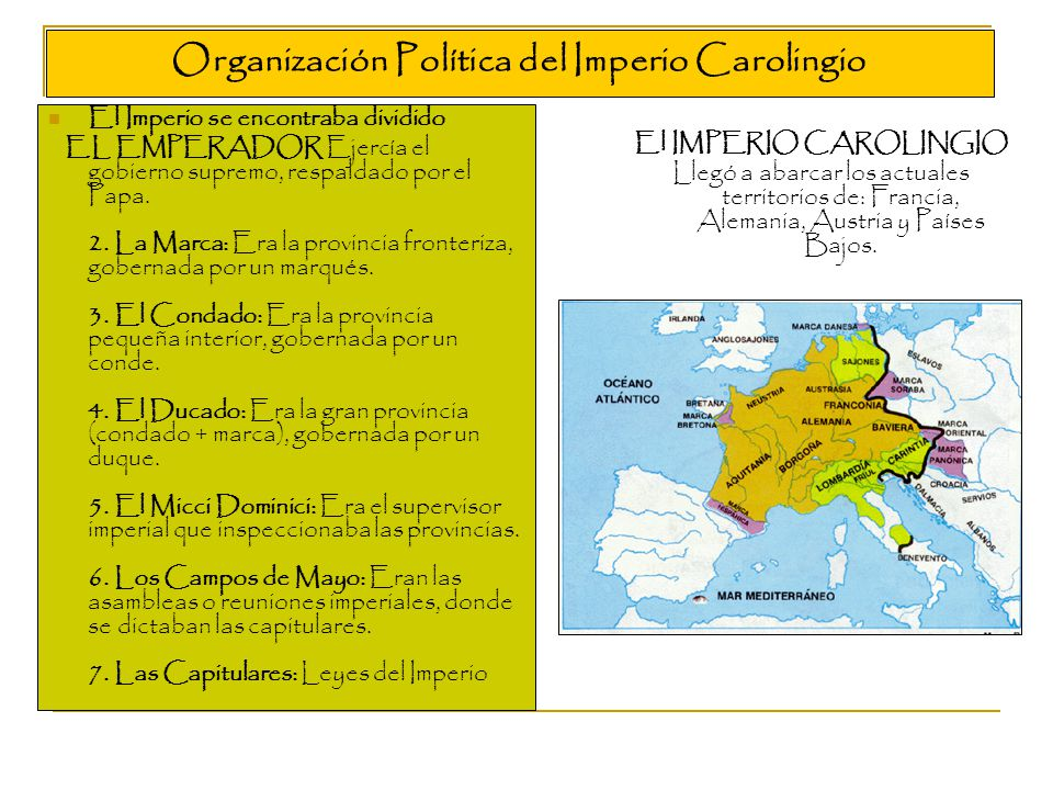 Organización Política del Imperio Carolingio