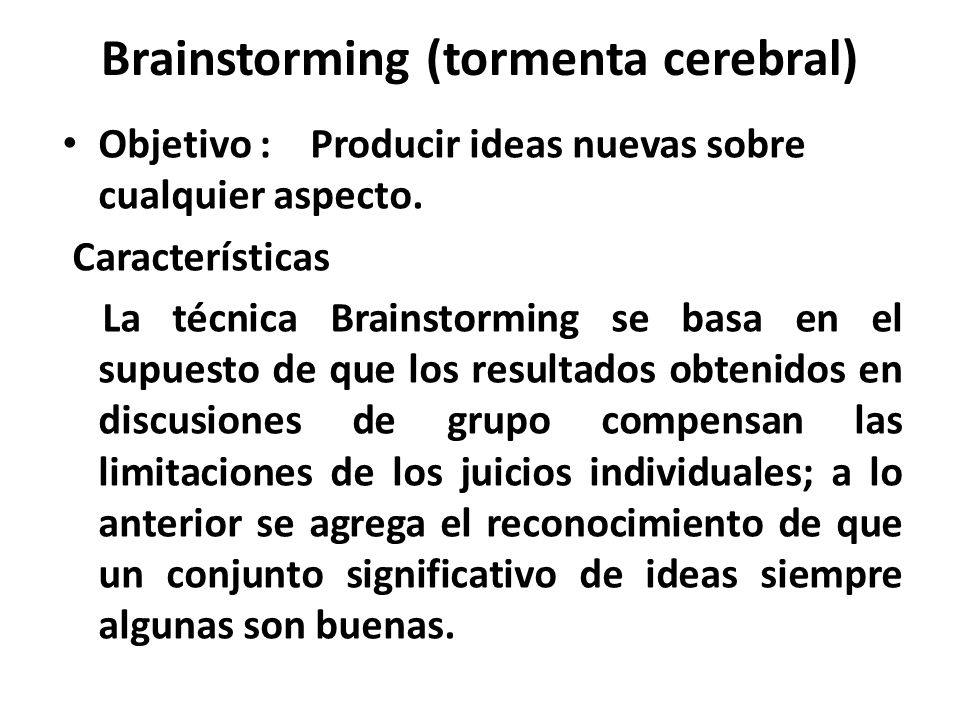 Brainstorming (tormenta cerebral)
