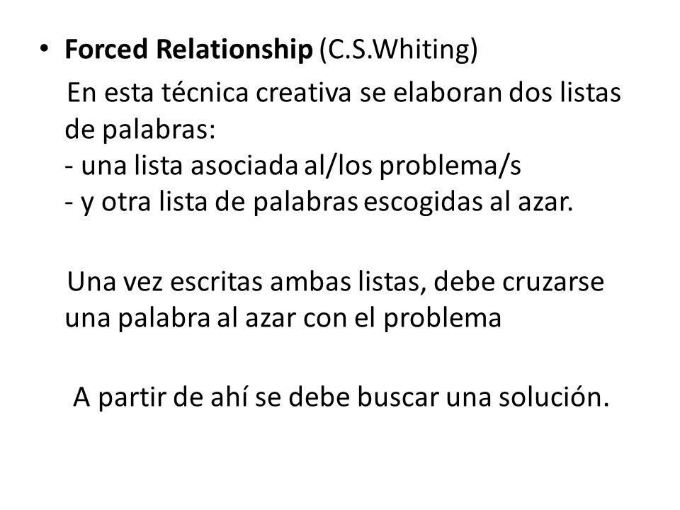 Forced Relationship (C.S.Whiting)