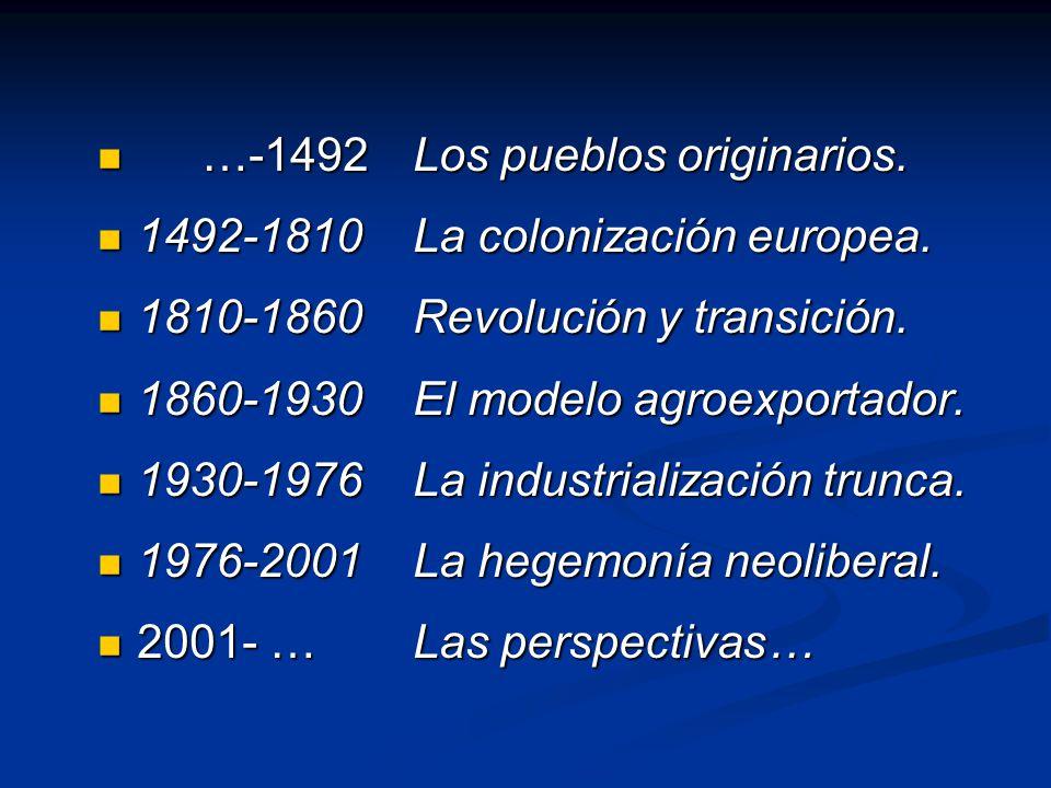 …-1492 Los pueblos originarios.