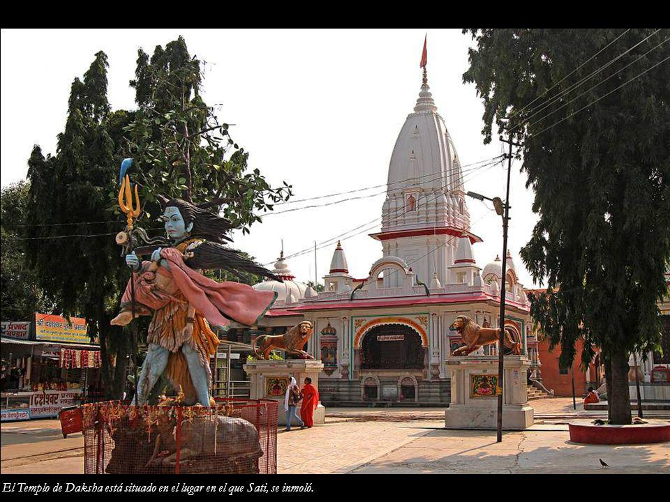 El Templo de Daksha está situado en el lugar en el que Sati, se inmoló.