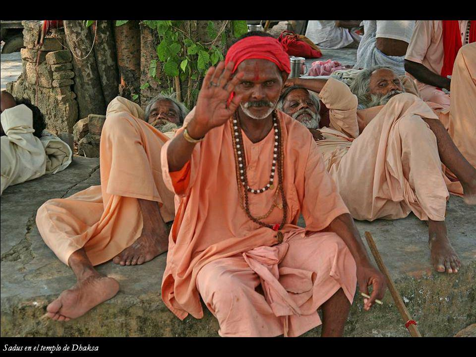 Sadus en el templo de Dhaksa