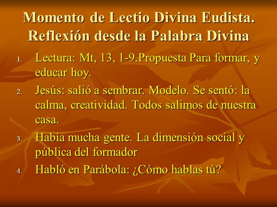Momento de Lectio Divina Eudista. Reflexión desde la Palabra Divina