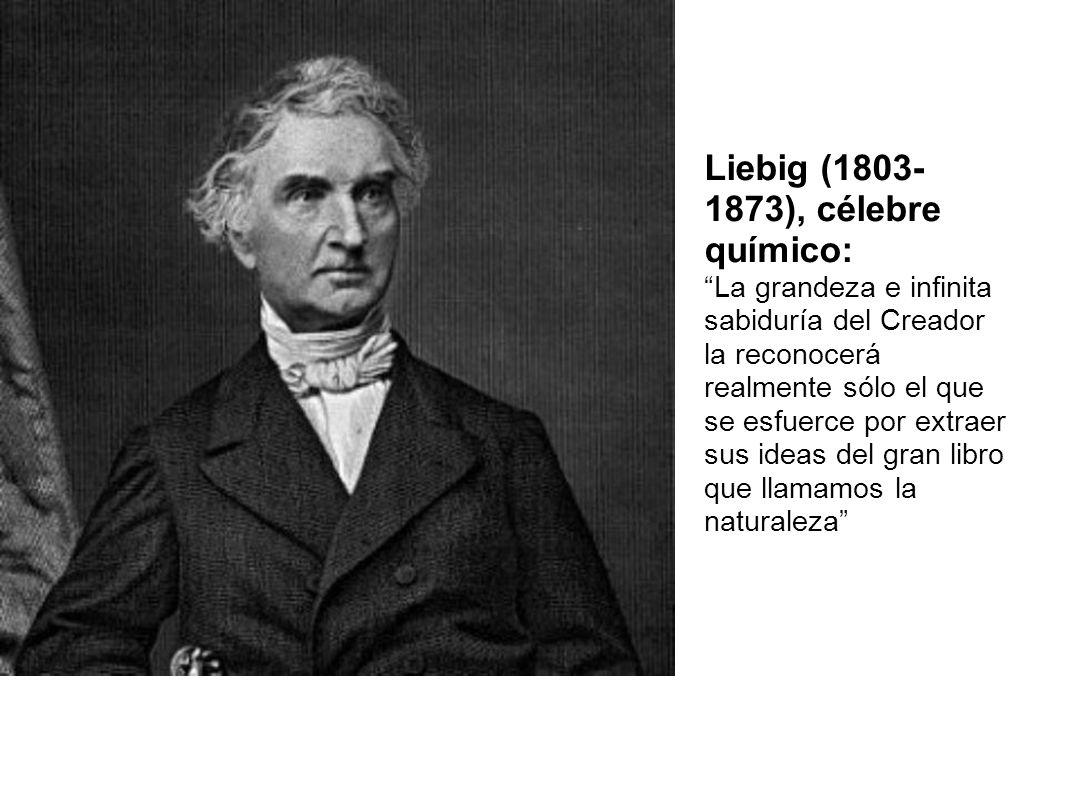 Liebig (1803- 1873), célebre químico: