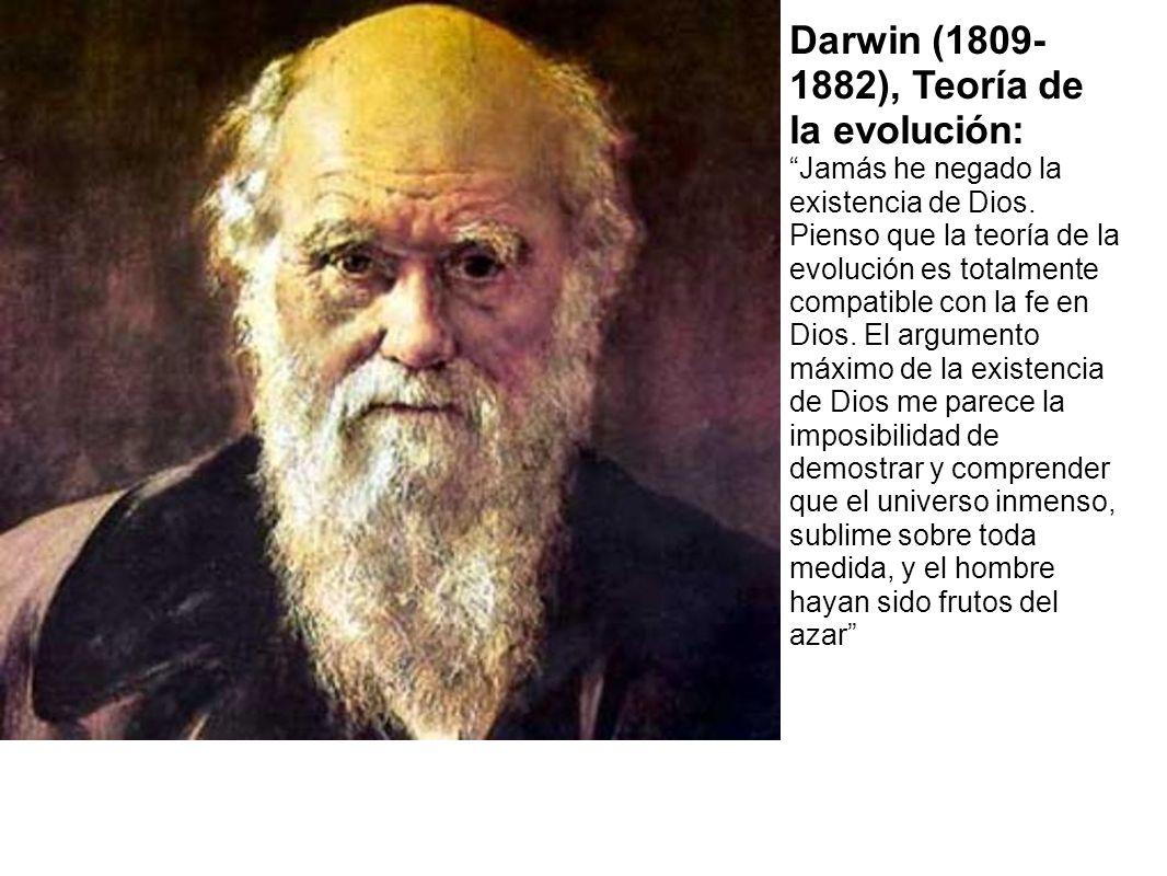 Darwin (1809- 1882), Teoría de la evolución: