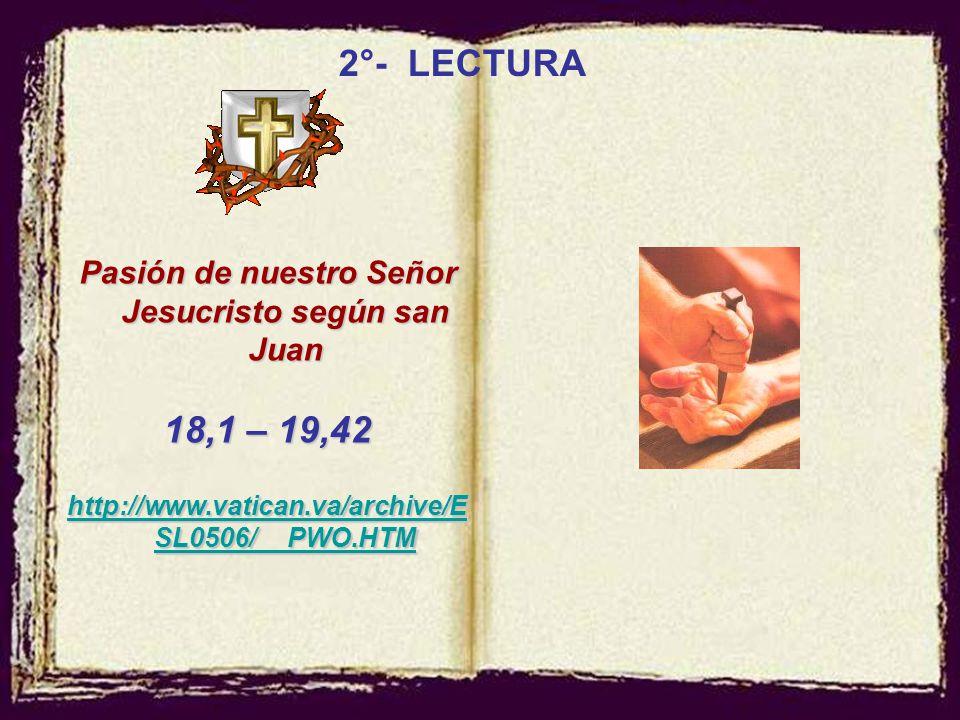 Pasión de nuestro Señor Jesucristo según san Juan