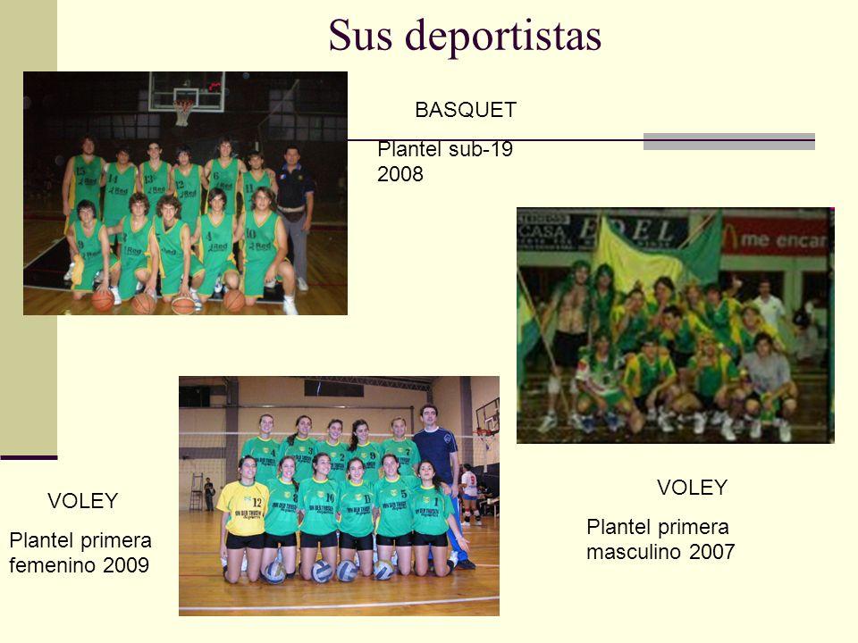 Sus deportistas BASQUET Plantel sub-19 2008 VOLEY VOLEY