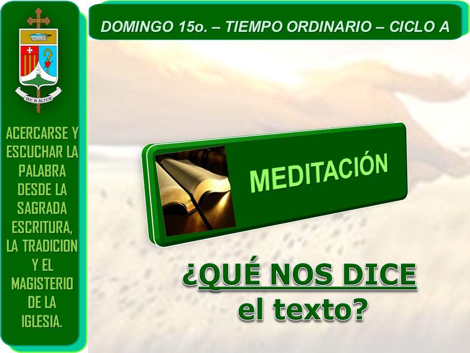 MEDITACIÓN ¿QUÉ NOS DICE el texto ACERCARSE Y ESCUCHAR LA PALABRA