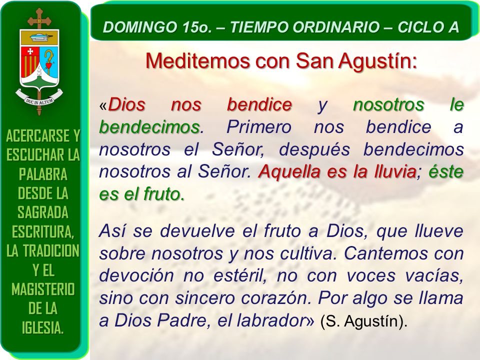 Meditemos con San Agustín: