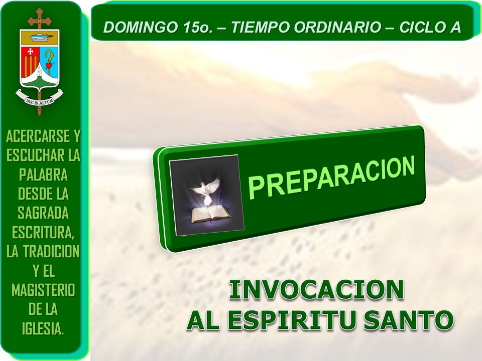 PREPARACION INVOCACION AL ESPIRITU SANTO