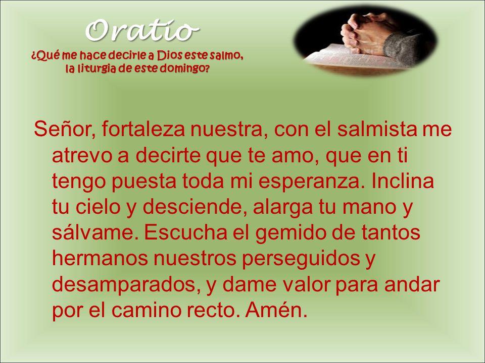 Oratio ¿Qué me hace decirle a Dios este salmo, la liturgia de este domingo
