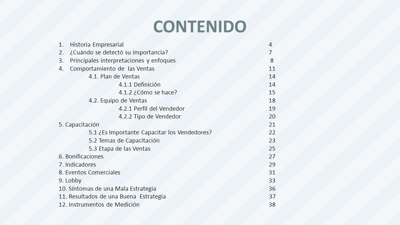 CONTENIDO Historia Empresarial 4 ¿Cuándo se detectó su importancia 7