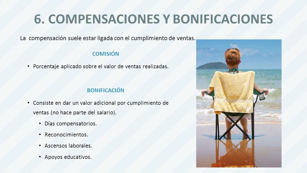 6. COMPENSACIONES Y BONIFICACIONES