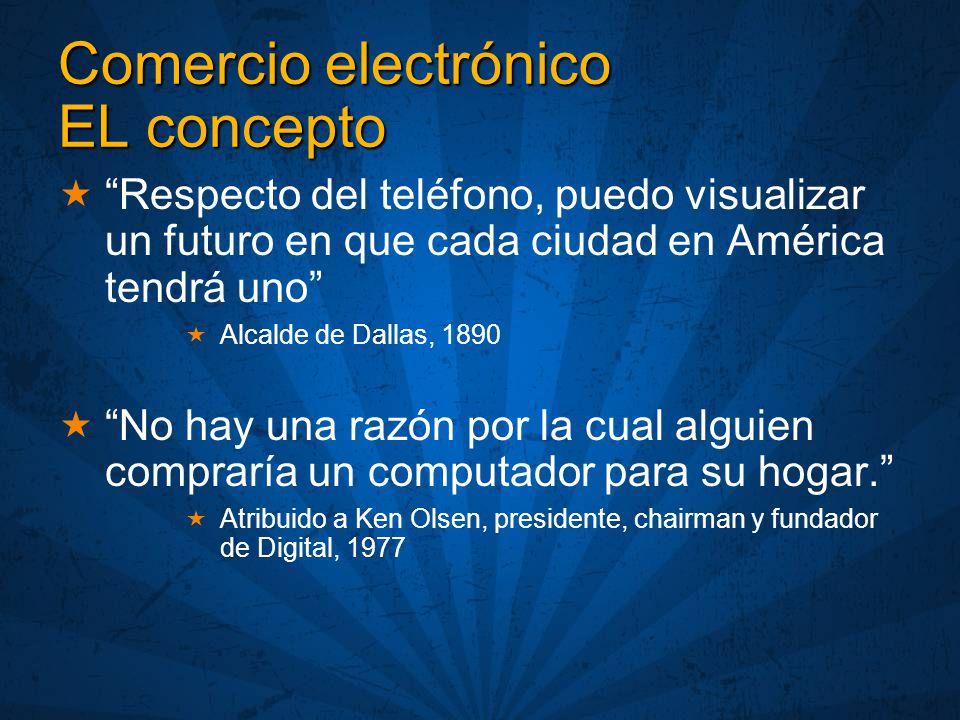 Comercio electrónico EL concepto