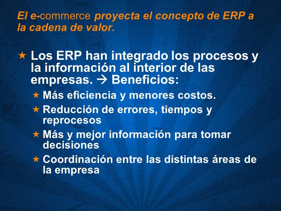 El e-commerce proyecta el concepto de ERP a la cadena de valor.