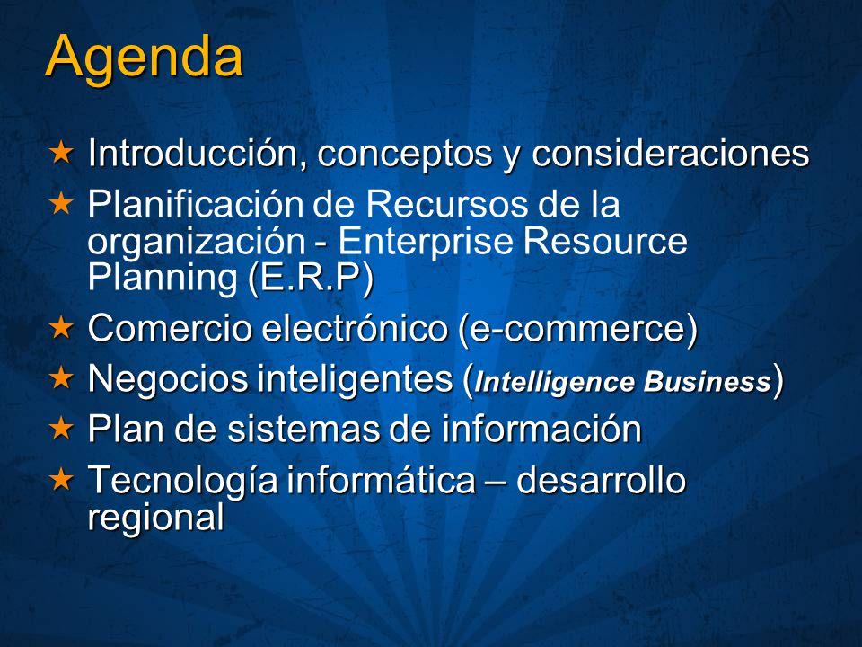 Agenda Introducción, conceptos y consideraciones