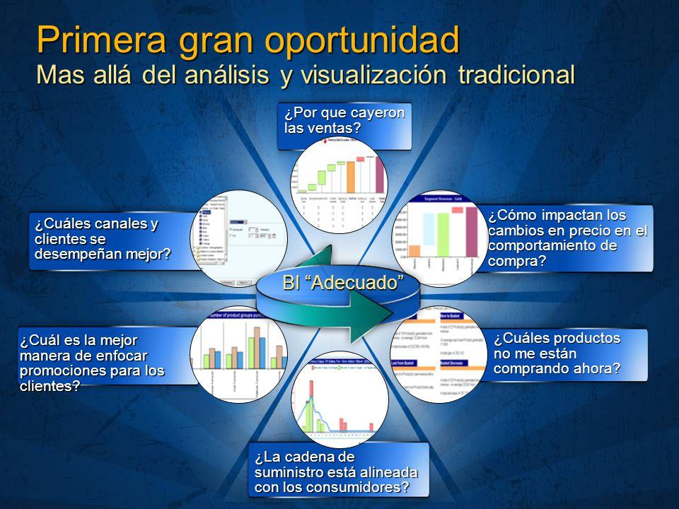 Primera gran oportunidad Mas allá del análisis y visualización tradicional