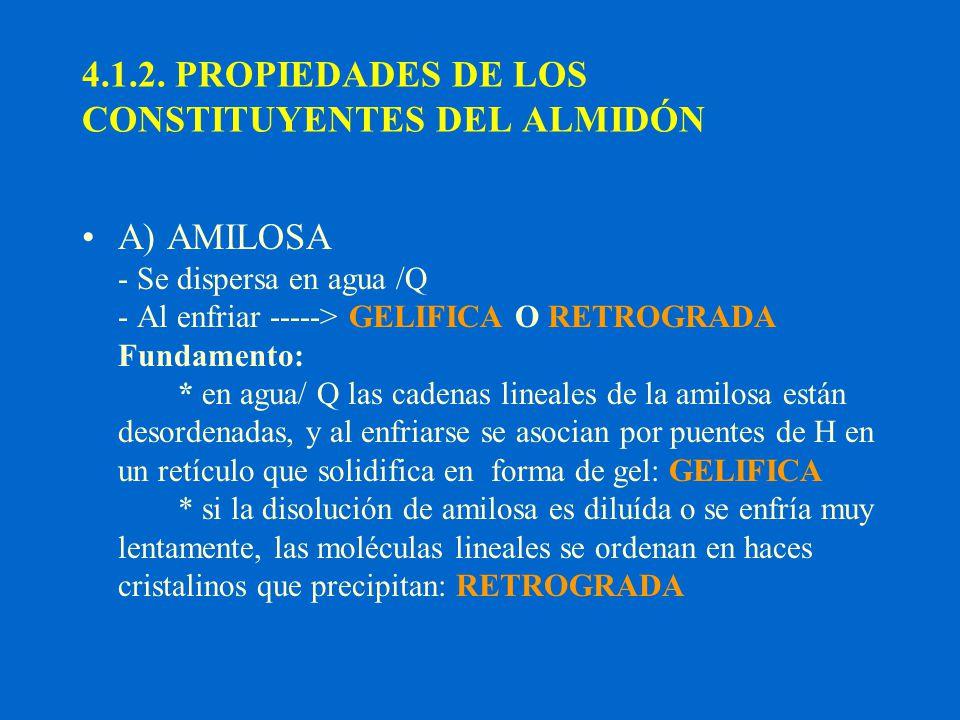4.1.2. PROPIEDADES DE LOS CONSTITUYENTES DEL ALMIDÓN